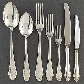 """A set of silver cutlery, 66 pieces, """"Haga"""", 1940s."""