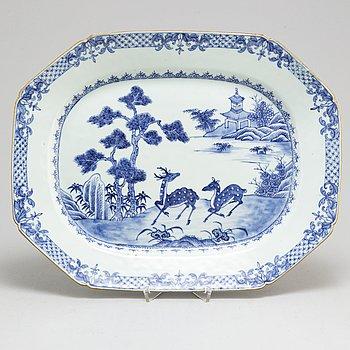 SERVERINGSFAT/STEKFAT, kompaniporslin. Qingdynastin, Qianlong (1736-95).