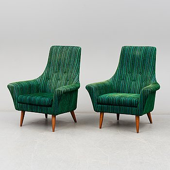 A pair of 1960´s easy chairs.