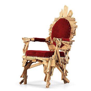 """1011. Finn Ahlgren, a unique """"Roccoco armchair"""", Studio Finn Ahlgren 2010."""