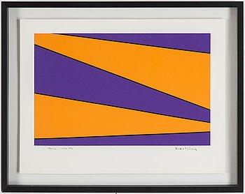 OLLE BAERTLING, silkscreen, 1972-73, signed 25/100.