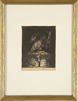 JOHN BAUER, lithograph, signed and dated 1915.