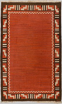 A CARPET, flat weave, ca 321 x 200 cm, signed och dated A A 1936.