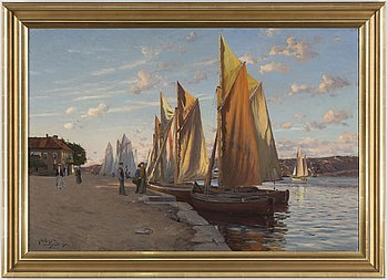 JOHAN ERICSON, oil on canvas, signed and dated Marstrand 1904.