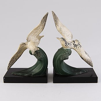 A pair of 1930s French bookends for Melo.
