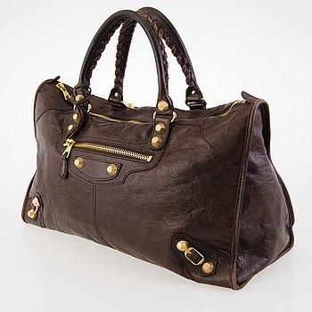 BALENCIAGA Brown Work Giant Bag.