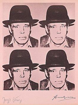 "319. Andy Warhol Efter, ""Josef Beuys""."
