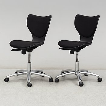 JORGE PENSI, a pair of 'Gorka' desk chairs from Akaba.
