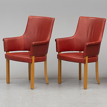 A pair of 'Riksdagens' armchairs by Åke Axelsson, Gärsnäs, 1990.