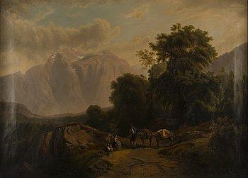 TOMAS JOAKIM LEGLER, oil on canvas, signed on the back.
