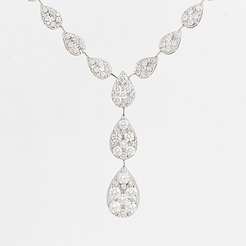 Brilliant-cut diamond necklace, 3,05 ct.