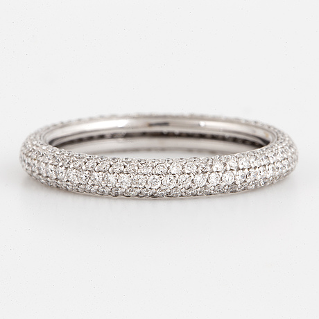 Half eternity 0,95 ct brilliant cut diamond ring