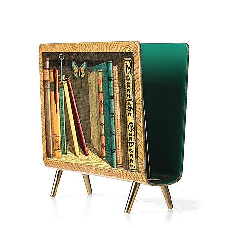 "Piero fornasetti, a magazine rack, ""libri"", milano, italy."