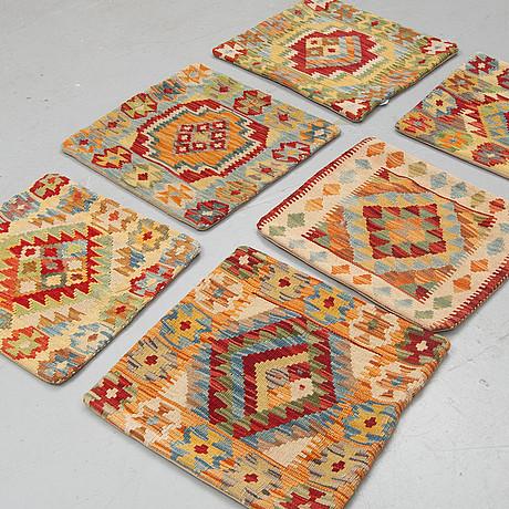 Six kilim cushions, approx, ca 50 x 50 cm