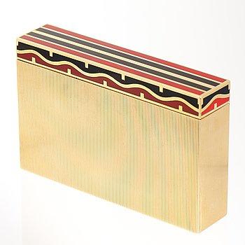 VAN CLEEF & ARPELS ETUI, 18K guld, emalj, ca 1930-tal.