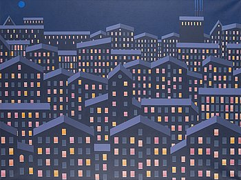 KRISTIAN KROKFORS, oil on canvas, signed and dated 2011.