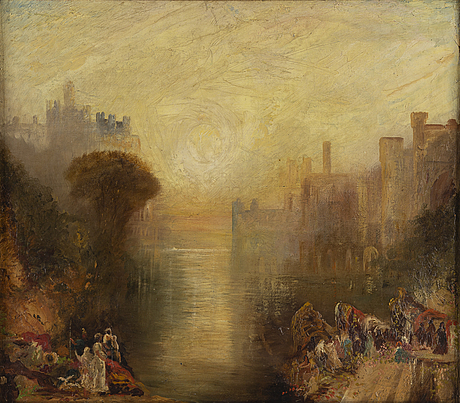 Joseph mallord william turner, copy after, oil on canvas.