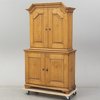 A 18th Century pine cabinet.