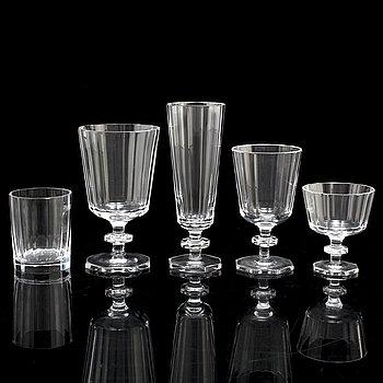 "ELIS BERGH, glasservis, 65 delar, ""Karlberg"", Kosta."