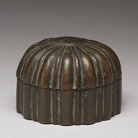 A copper alloy box with cover, presumably late ming dynasty.