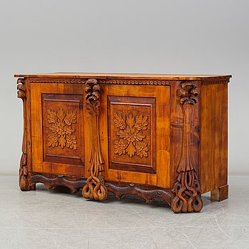KNUT FJAESTAD, a folk art sideboard, Sweden, the former part of the 20th C.