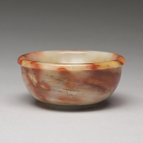 A sculptured stone bowl, china, early 20th century
