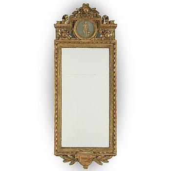 JOHAN ÅKERBLAD, spegel, gustavianskt stockholmsarbete, signerad IÅ,