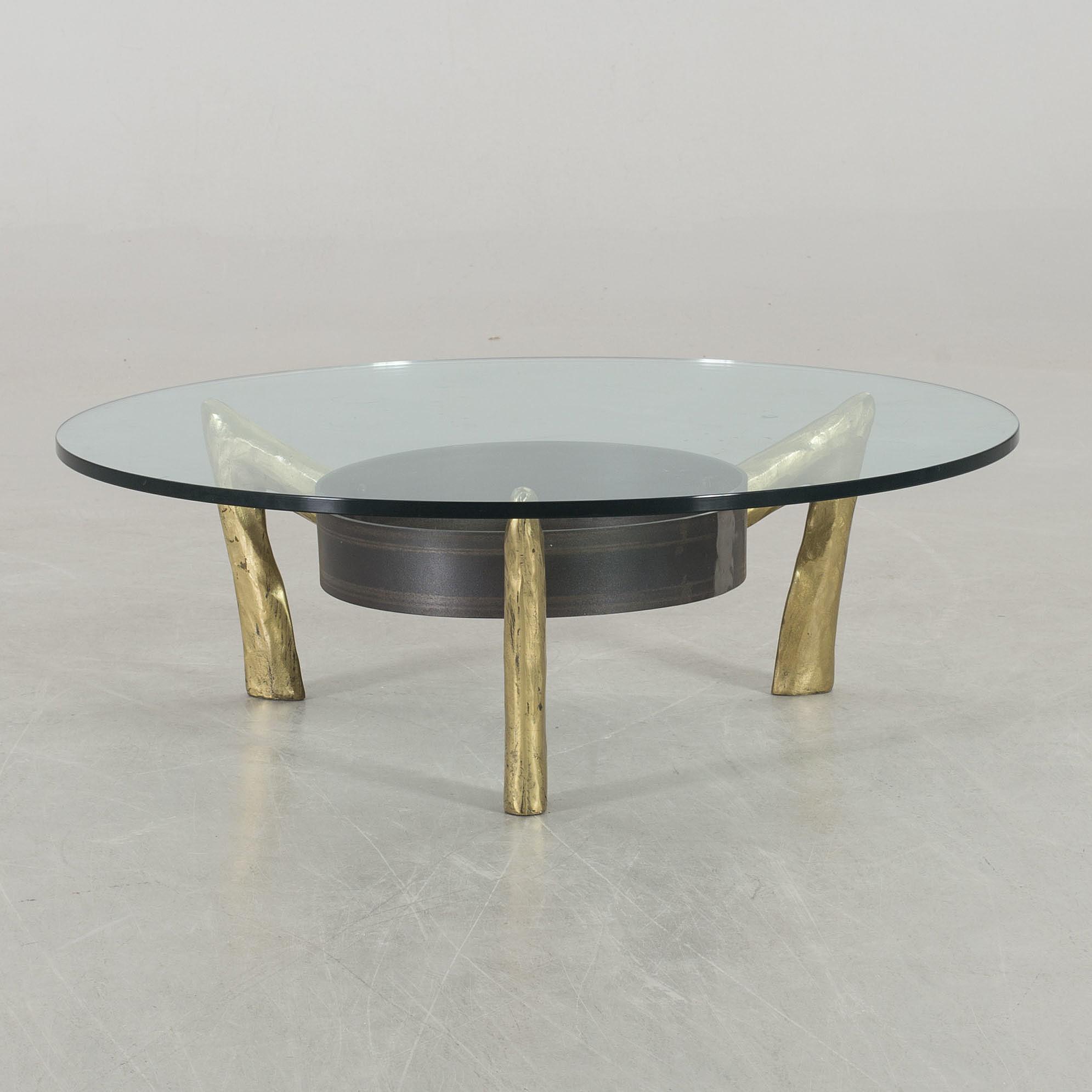 A Glass Top Coffee Table Bukowskis