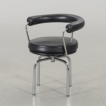 LE CORBUSIER, a LC7 armchair Cassina later part of the 20th century.