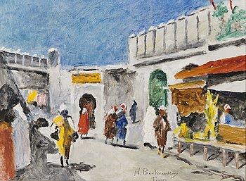 HUGO BACKMANSSON, oil on canvas, signed Tanger.