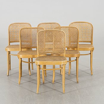 A SET OF SIX BENTWOOD CHAIRS,