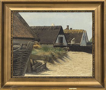 JOHN LÜBSCHITZ, oil on board, signed and dated -85.