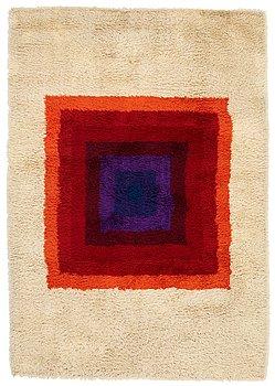 "50. Verner Panton, a carpet, ""Square, Multi colour"", machine made pile, ca 199,5 x 137 cm, designed by Verner Panton."
