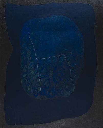 Markus konttinen, oil on canvas, a tergo signed