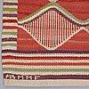 "Barbro nilsson, matta, ""rödspättan"", gobelängteknik, ca 313,5 x 203 cm, signerad ab mmf bn."
