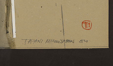 Tapani mikkonen, signed and dated -84.