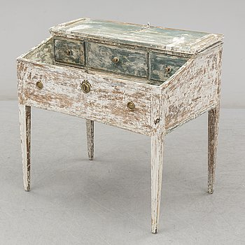 A provincial Gustavian painted pine desk, 19th Century.
