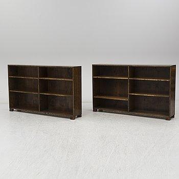 A pair of 1930s / 40s bookshelves.