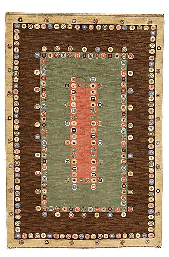 "Märta måås-fjetterström, mÄrta mÅÅs-fjetterstrÖm, a carpet, ""tusenskönan"" (""bellis""), knotted pile, ca 314 x 209,5 cm, signed ab mmf."