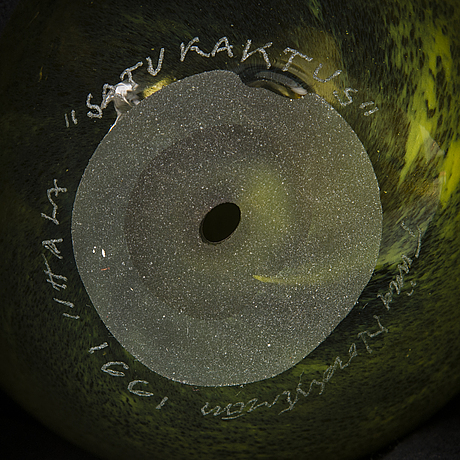 Tiina nordstrÖm, a 'cactus' scupture signed tiina nordström iittala 1991