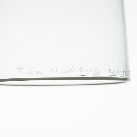 """Tiina nordstrÖm, skulptur, """"venetian girl"""", signerad tiina nordström, nuutajärvi 1993."""