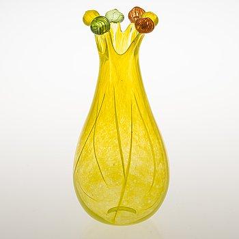 TIINA NORDSTRÖM, a 'Yellow Princess' art glass signed Tiina Nordström Nuutajärvi 1996.