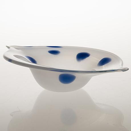 Tiina nordstrÖm,  a 'wind bowl' art glass signed tiina nordström iittala 1996