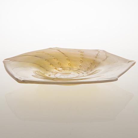 Tiina nordström, a 'sea spindle' art glass signed tiina nordström iittala 1996.