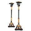 A pair of late gustavian candle stands, early 19th century.