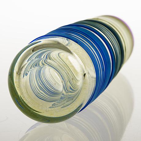 Tiina nordström, a 'spring cycle' art glass signed tiina nordström iittala 1994.