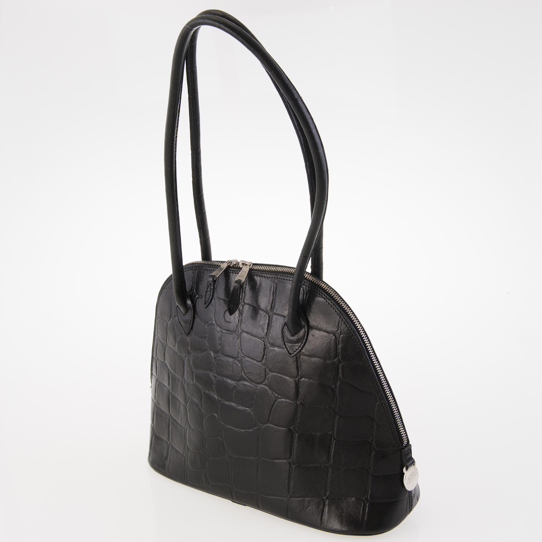 8ea35f24e6d MULBERRY Black Congo Leather Breton Shoulder Bag. - Bukowskis