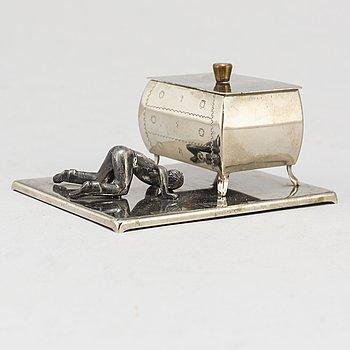 A metal cufflink box from Widerholm & Dahlberg, Eskilstuna, probably 1930/40's.