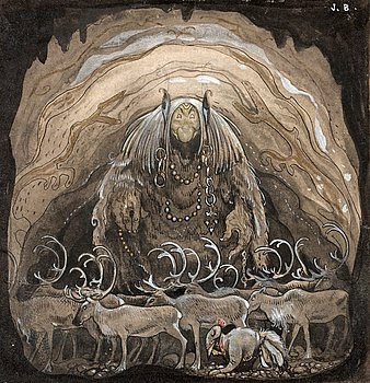"10. JOHN BAUER, ""Nilas offer, Julbocken (II)""."