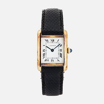 CARTIER, Tank, wristwatch, 20,5 mm.